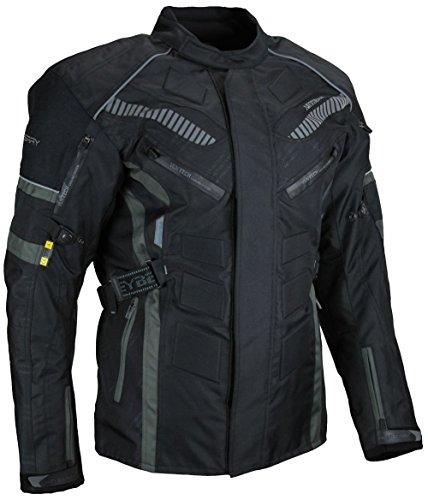 HEYBERRY Herren Touren Motorradjacke Textil grau Gr. XXL