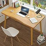 Escritorio de madera para ordenador, mesa de estudio, lectura o trabajo con patas de madera antideslizantes, ideal para niños o adultos, 80 x 50 x 73 cm