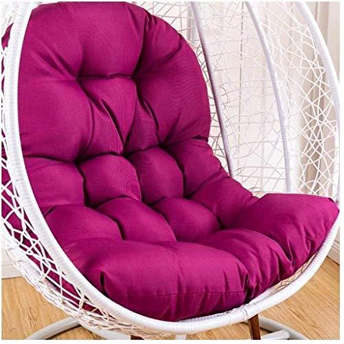 Cojines para tumbonas de exterior LDL Cojín para silla con respaldo extraíble para columpio, funda de cojín de ratán sin soporte Cojín grueso para silla con nido de huevos Cojín lavable para hamaca co