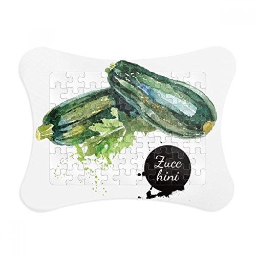 Zucchini Vegetable Tasty Healthy Watercolor Puzzle Frame Picture Decoration Jigsaw Game Ornament