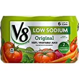 V8 100% Vegetable Juice, Low Sodium Original, 11.5 Ounce, 6 Count (Pack of 4)