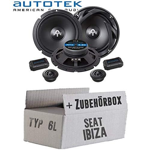 Lautsprecher Boxen Autotek ATX-6.2C   2-Wege 16cm Lautsprecher System 16,5cm Auto Einbauzubehör - Einbauset für Seat Ibiza 6L Front Heck - JUST SOUND best choice for caraudio