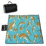 Suo Long Divertidos Dibujos Animados Kangraoo Zoo Picnic Mat Beach Blanket Picnic Blanket