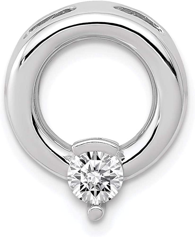 Charm Pendant 14K White Gold Slide 15 Diamond M 4Mm Max 47% OFF 13 mm Manufacturer regenerated product Circle