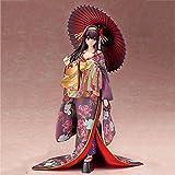 Akazan 25cm UtahA No Sodatekata Personaje de Dibujos Animados Eriri Singer Saawamura Kimono Otaku Favorito PVC Modelo de acción Juguete Coleccionable Decoración de Regalo para niña