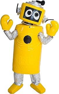 Plex Yellow Robot Yo Gabba Gabba Mascot Costume Character Cosplay Party Birthday Halloween