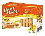 LEICHT&CROSS Knusperbrot Goldweizen, 8er Pack (8 x 125 g) -