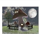 Regalos Navidad 5D Diamante Pintura Dibujo Diy Kits Dibujos animados Seta Casa Luna Hierba Paisaje Regalo Bordado Punto cruz Diamante imitación coración l hogar 40X50Cm