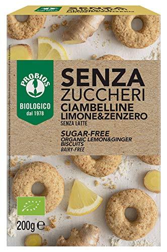 Probios Ciambelline Limone e Zenzero Bio - Senza Zuccheri - Confezione da 200 g