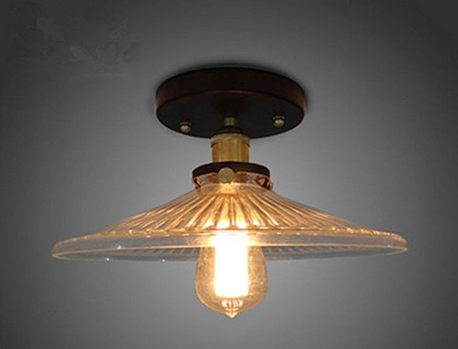 Luminaires de plafond, Loft style américain Rétro Bar restaurant Salon de la personnalité école créative du salon de l'allée éclairage de plafond Porte-lampe E27