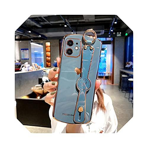 Electroplated Glossy - Carcasa para iPhone 12, color azul