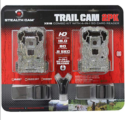 Best budget trail camera - Stealth Cam XS16 2-Pack Game Trail Camera with SD Card Reader