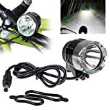 RioRand 4 Mode 1200 Lm Cree Xml T6 Bulb LED Bicycle Bike Headlight Lamp Flashlight Light Headlamp