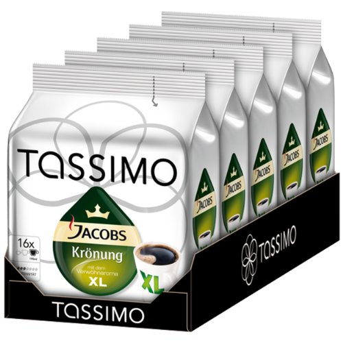 Tassimo Jacobs Krönung XL 5x16 Portionen 5er Pack