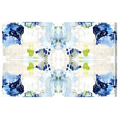 Kaleidoscope by Oliver Gal | Contemporary Premium Canvas Art Print. The Abstract Wall Art Decor Collection. 36x24 inch, Blue
