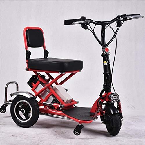 DYHQQ Mini Triciclo eléctrico Plegable Scooter eléctrico de Litio para Adultos portátil para discapacitados Ancianos batería Coche 48V Puede durar 60 km
