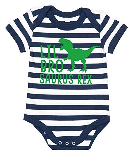 Edward Sinclair - Barboteuse - Lil Bro Saurus Rex - Drôle de bébé - Garçon - Frère - Barboteuse - Bleu - 6 mois