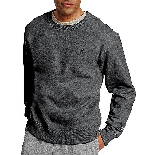 Champion Men's Powerblend Fleece Pullover Sweatshirt_Granite Heather_2XL