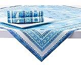 Sovie HOME Linclass® Airlaid Tischdecke Seaside | Mitteldecke 80×80 cm stoffähnlich | edle Tischdeko Meer Muschel Koralle | blau - 3