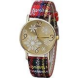 Bravetoshop Women's Watch Elegant Simple Diamonds Shinning Dress Watches Analog Quartz Wristwatches Fashion Bracelet Watch for Lady Gifts 805(Yellow)