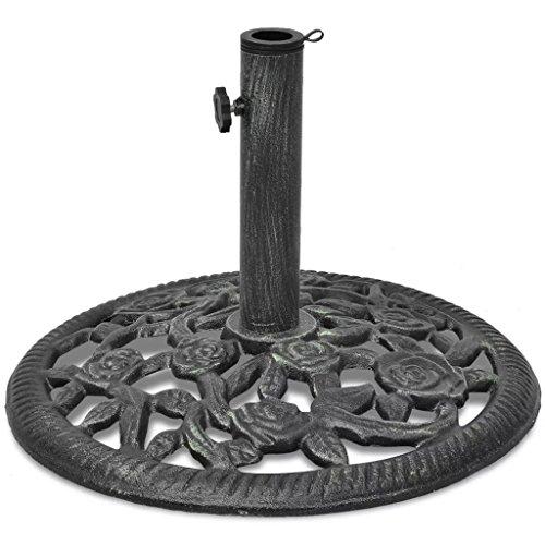 mewmewcat Socle de Parasol Solide en Fonte Excellente Stabilité 12 kg 48 x 32,5 cm