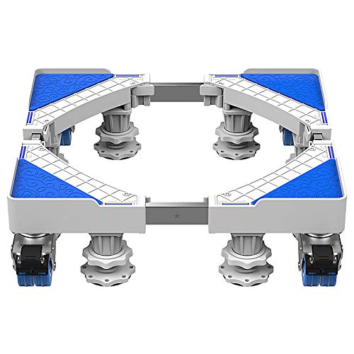 QINGMM Socle Lave Linge, Base réglable Mobile multifonctionnelle, Support d'appareils ménagers avec Support télescopique pour Machine à Laver, sèche-Linge et réfrigérateur,C
