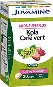 Les Laboratoires Juvamine ont élaboré une formule à base de noix de Kola, une plante reconnue pour ses propriétés minceur, complétée par du café vert Le Kola est une noix originaire d'Afrique aux propriétés minceur. En effet, elle aide à brûler les g...