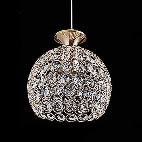 lampadario camera da letto pendente Lampade a Sospensione Moderne in Cristallo - Lampada a Sospensione da Interno E27 Plafoniera per Balcone Hotel Ristorante Oro