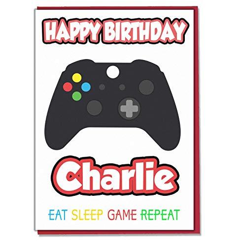 AK Giftshop Geburtstagskarte mit Gaming-Controller-Motiv, personalisierbar