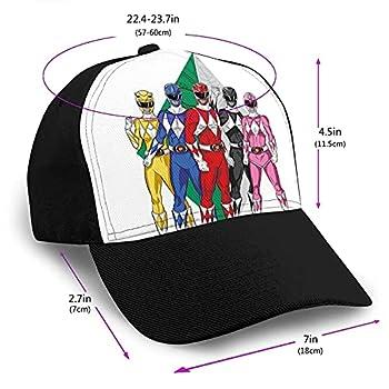 Casquette de baseball Power Rangers unisexe, réglable, tendance, rétro, casquette de baseball, casquette de baseball, casquette de baseball à bord incurvé, noir