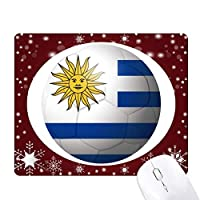 ウルグアイ国旗サッカーワールドカップ オフィス用雪ゴムマウスパッド