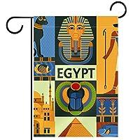 ガーデンフラッグ両面印刷防水エジプトピラミッド 庭、庭の屋外装飾用