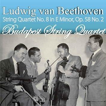 Ludwig van Beethoven: String Quartet No. 8 in E Minor, Op. 58 No. 2