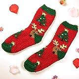 B/H Calcetines mullidos para Mujeres y niñas,Calcetines cálidos de vellón Coralino para Mujer, Calcetines Gruesos para Dormir de Medio vellón-a8 Pair_One Size,Calcetines de Mujer de Belleza