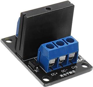 ILS – 3 Piezas 1 módulo relé Manga 12 V DC Trigger Estado sólido de Alto Nivel para Arduino 240V2A