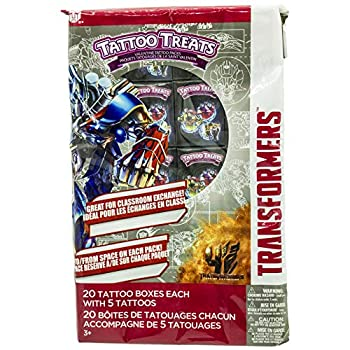 Paper Magic Transformers Valentines Day Tattoo Treats  20 Pack  Bumblebee Optimus Prime and Autobots