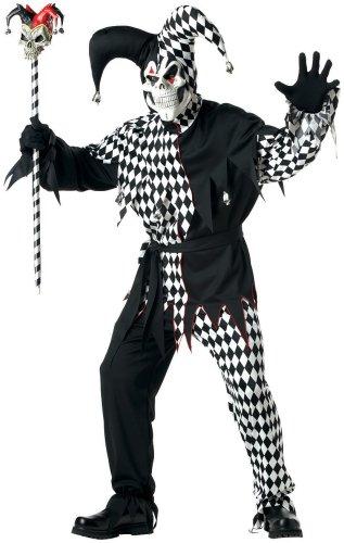 Disfraz De Bufn Malvado/Joker Blanco Negro Vestido Para Hombre Talla XL