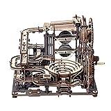 ROKR Puzzle 3D Madera Maquetas para Montar Carrera de mármol Modelo mecánico Kit de construcción con 10 Bolas de Acero para Adolescentes y Adultos, Marble Night City