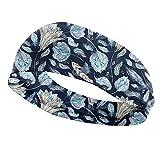 Auxsoul Sonnenblumen-Haarband, schnelltrocknend, elastisch, für Sport, Haardekoration, 0, Stil 08