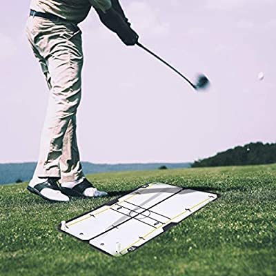 Ship from USA,Golf Putting Alignment Mirror,Portable Training Aids, Putt Swing Alignment Trainer, Practice Equipment and Accessories,Eye, Shoulder and Face Angle Tutor, Putter Path, Start Line (A)