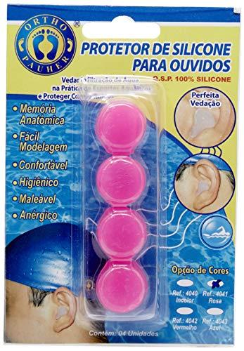 Protetor de Ouvido de Silicone, Ortho Pauher, Rosa