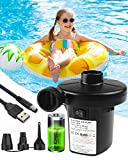 Rantizon Unisex's, Rechargeable Electric Inflatables Paddling Pool, USB 8.5V DC, for Air, Blow up Bed Pump for Camping Sports and Toys, Black, one size