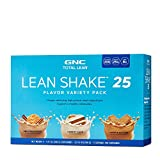 GNC Total Lean Lean Shake 25 Flavor Variety Pack Protein Powder - Snickerdoodle, Carrot Cake and Cookie Butter, 5 Servings Each