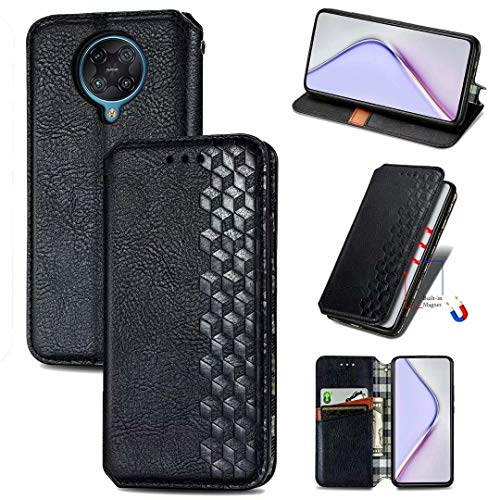 ZXL Redmi 10 X Pro 5G Flip Case,3D Bling Retro Book Style Wallet Case Card Slots Kickstand Phone Case with Magnetic Protective Cover for Xiaomi Redmi 10 X Pro 5G Black