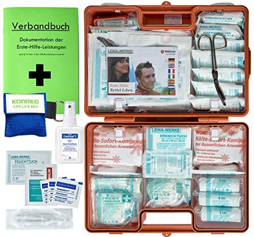 *Erste-Hilfe-Koffer M2 PLUS für Betriebe ab 50 Mitarbeiter DIN 13169 EN 13169 incl. Verbandbuch & Hygiene-Ausstattung*