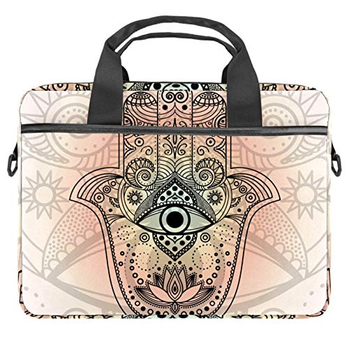 13-14.5 Inch Laptop Sleeve Case Hamsa Hand Symbol Strength Happiness Protective Cover Bag Portable Computer Notebook Carrying Case Briefcase Message Bag