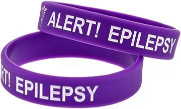 Zdy 2ST siliconen armband melding Epilepsie waarschuwingsarmband kinderen grootte zachte siliconen armband