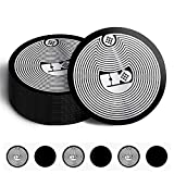 20 Pieces NFC NTAG216 Stickers NFC Devices Tag 25 mm (1 Inch) Round NFC Sticker 888 Bytes NTAG216 Compatible with Most NFC-Capable Phones, Black