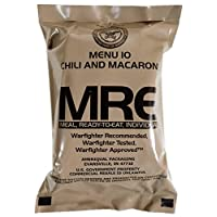 MILITARY US ARMY MRE NATO Food Ratio Emergency Combat Survival Camping Meal 1-24 (12# Elbow Macaroni in Tomato Sauce)