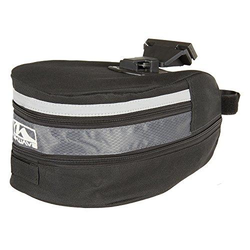 M-Wave Grosse Sattel-/ Gepäckträgertasche, schwarz, 28x17x13-20 cm